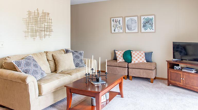 Lancaster Village Apartments - Living Room